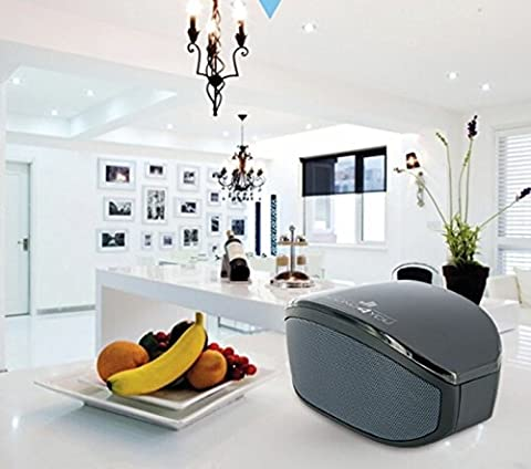 SCHWAIGER -067- Bluetooth Lautsprecher mit LED / Musik Box mit USB fürs Handy / Micro SD Karten