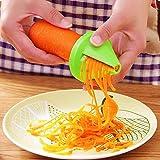 YiniKape vegetale taglierina Imbuto Modello a Spirale affettatrice di Verdure Shred Dispositivo Cucina Insalata di Carote Strumenti Ravanello Cutter da Cucina Accessori
