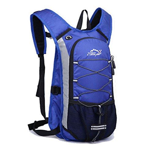 Cuckoo Im Freien Wandern Klettern Rucksack Freizeit Ultraleichte Wasserdichte Outdoor Wanderrucksäcke Radfahren Reiten Reisetaschen, 45 x 25 x 15 cm, 15 Liter Blau