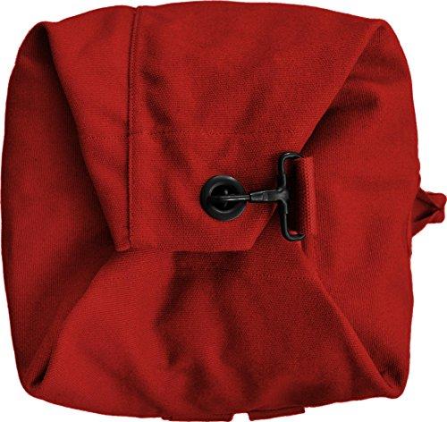 Seesack schwarz mit Doppelgurt 100% Baumwolle ! Rot