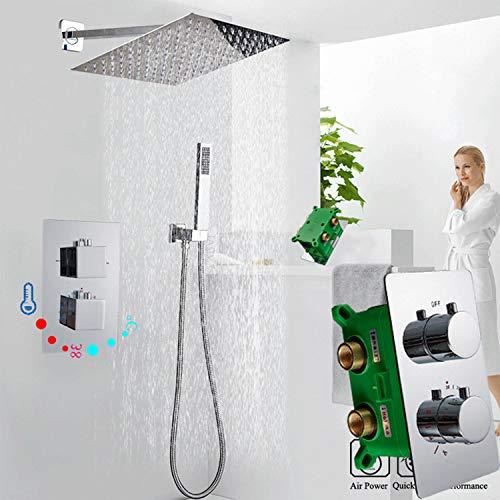 Zoom IMG-3 maniglia doccia termostatica cromata con