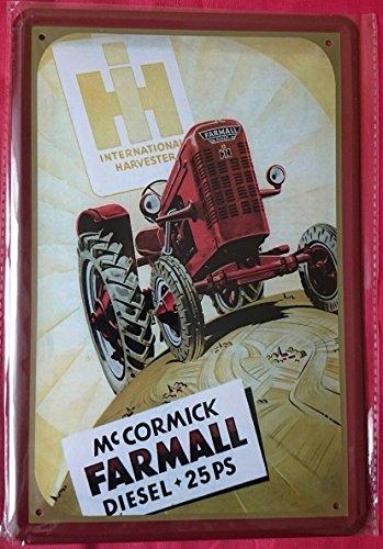 Blechschild 20x30 cm Mc Cormick McCormick Farmall Traktor Schlepper Metall Schild