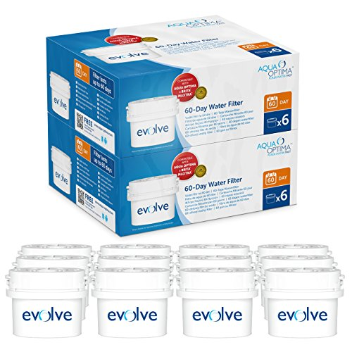 Paquete para 2 años Aqua Optima Evolve, 12 filtros de agua para...
