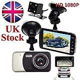 SmartPro 20184Dual Linse Kamera Full HD, 170° 1080P Auto DVR Video Dash Cam Recorder G-SENSOR (schwarz)