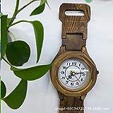 YEEPCOOMY Relojes Decorativos, Reloj de Pared de Reloj de Pino Creativo Vintage, Mesa de Pared...