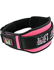 Women's Weight Lifting Belt Gym, Fitness, Crossfit, Bodybuilding Squats, Lunges, Deadlift, Velcro Belt - Powerlifting Weightlifting Pink, Purple