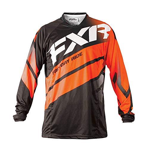 FXR Racing Mission 18 Herren MX Motocross Gelände Jersey - Schwarz/Orange/Weiß - Schwarz, Orange, Weiß, S Fxr Racing