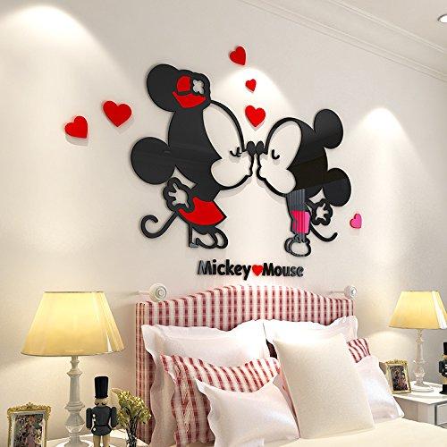 CQMYG Cartoon romantische kristall acryl 3D wandaufkleber Aufkleber kinderzimmer hochzeitszimmer Wohnzimmer Schlafzimmer nachttischdekoration romantische Cartoon große 1,5x1,03 mt (Kristall Quarz Vogel)