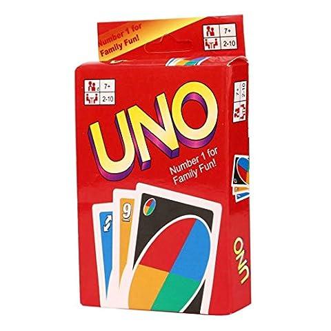 Kolylong UNO - Jeu de carte - jeux société - 108 cartes à jouer