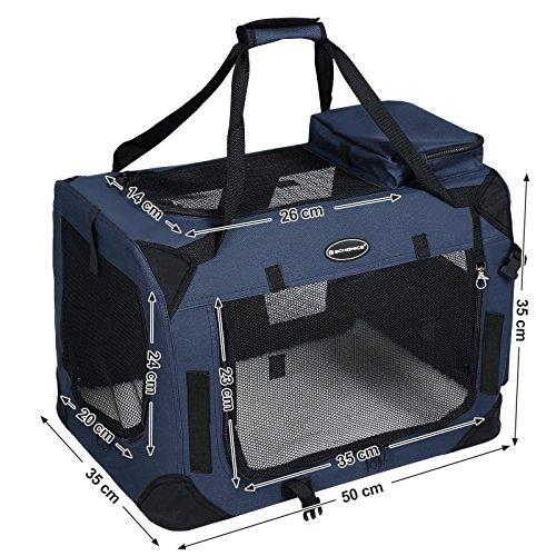 Songmics Hundebox faltbar Oxford Gewebe Maße auswählbar – S 50 x 35 x 35 cm PDC50Z - 4