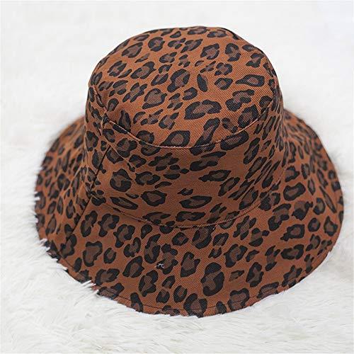 Sonnenhüte für Damen,Angel-Hüte für Damen,Fischerhüte für Damen,Leopard Tattoo Fischer Hut, Schatten Hut lässig Schüssel Mütze, Faltbare großen Strandhut, B