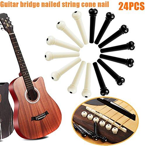 Preisvergleich Produktbild Cutogain 24 Gitarre Saiten Nägel Steg Pin massiv Zapfen Teil repair Kunststoff Zubehör