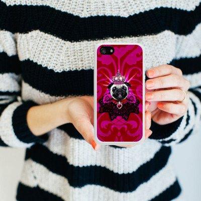Apple iPhone 5s Housse Étui Protection Coque Chien Roi Carlin Housse en silicone blanc