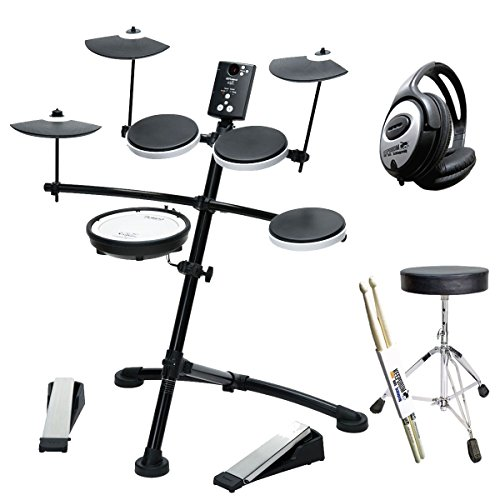 Roland TD-1KV E-Drum Schlagzeug + KEEPDRUM Hocker + Kopfhörer + Drumsticks (Roland-drum-kit)
