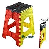 Lantelme Klapphocker 44 cm Hoch und max. 120 kg belastbar . Hocker aus Kunststoff , Wetterfest für Haushalt , Garten und Camping