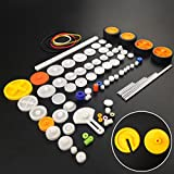 WOSKY 82 pcs Plastic Gear Package Kit DIY Gear Assortment accessories set for Toy Motor Car Robot Various Gear Axle Belt Bushings