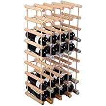 Botellero de vino para 40 Botellas Pino madera estante del vino natural