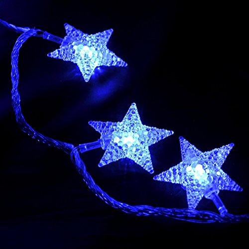 Richoose-40-LED-fnfzackigen-Stern-Schnur-Licht-fr-Garten-Haushalt-Halloween-Weihnachtsfest-Batteriebetriebene