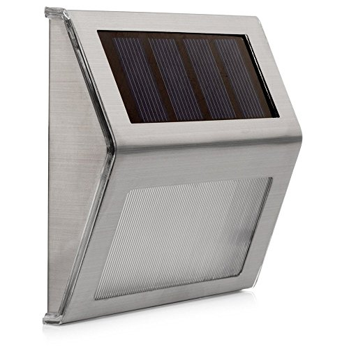 XSRKhome LED Solar Power Energy Light Outdoor Sun power Impermeabile Home  Garden Cortile Percorso Street Stair Fence Landscape Security Applique 1pz