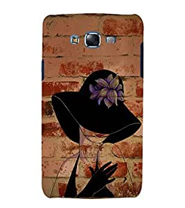 Wall Bricks Art Girl 3D Hard Polycarbonate Designer Back Case Cover for Samsung Galaxy J7 (2015) :: Samsung Galaxy J7 J700F (Old Version)