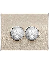Golf Manschettenknöpfe, Golf Ball Manschettenknöpfe, personalisierbar Golf Manschettenknöpfe,