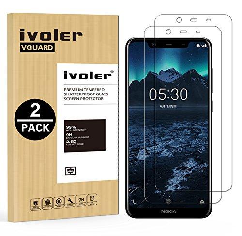 iVoler [2 Pack] Pellicola Vetro Temperato per Nokia 5.1 Plus/Nokia X5 [Garanzia a Vita], Pellicola Protettiva, Protezione per Schermo