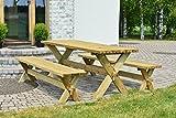 Alwo Tisch Bank Garnitur Gartengarnitur Gartenmöbel Sitzgruppe Modell Nostalgie