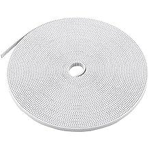 10 Metri 2GT-6 Cinghia Apertura Terminata PU Larghezza Cinghia 6mm per Stampante 3D RepRap CNC Acciaio Accessorio, Bianco