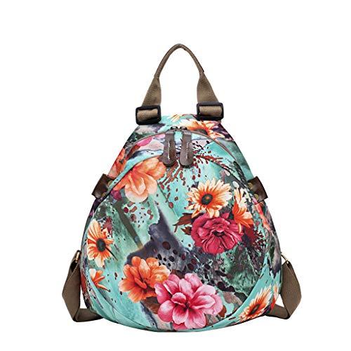 Mitlfuny handbemalte Ledertasche, Schultertasche, Geschenk, Handgefertigte Tasche,Mode Frauen Retro Druck Blume Rucksäcke Reisetaschen Schulpaket (Casio Edge)