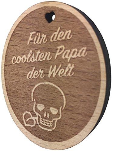 endlosschenken Kühlschrank-Magnet Für den coolsten Papa der Welt Gravur aus Holz sehr Gute Qualität Vatertagsgeschenk Anhänger Vatertag vom ORIGINAL