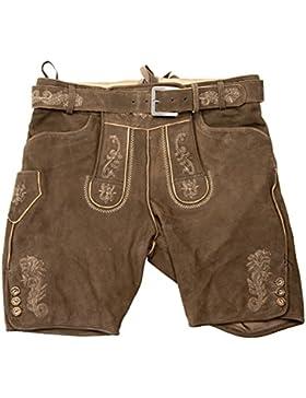 Herren Lederhose - altbraun ZV antik 3450 Lederhosen ohne Träger Gr. 44-54 Trachten Echtes Leder Trachtenlederhose...