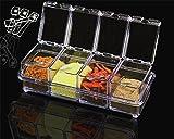 Caja para botellas de condimento tarro condimento contenedor de almacenamiento accesorio de hierbas especias tarros de 4y 6PSC dos estilos 4 Box Set