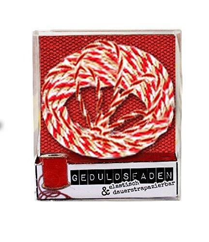 Radiergummi Collection Geduldsfaden rot weiss einzeln verpackt 5,5x1,5x6,5cm - Liefermenge 24 Stück