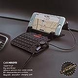 Handyhalterung Induktionsladegerät Handy Induktion KFZ Auto iPhone Samsung Samrtphone USB Ladegerät Universalhalter