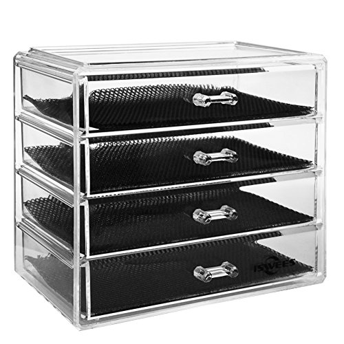 Makeup Organizer,4 Tier Clear Acrylic Cosmetic Storage for sale  Delivered anywhere in UK