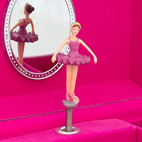 Prinzessinnen-Musik-Schmuckbox für Kinder–glitzernde Kinderspieluhr mit Ringhalter (Hot Pink); Lucy Locket - 6