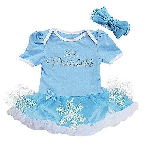 Inspired by Frozen Baby Mädchen (0-24 Monate) Kleid blau 3-6 (Frozen Kleid Babys Für)