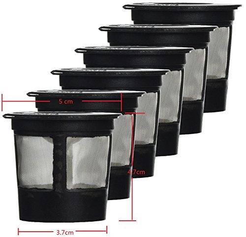 Keurig-system (nalmatoionme 6Solo Kaffee POD Filter System wiederverwendbar kompatibel Keurig Tasse Kaffee Kaffee Filter)