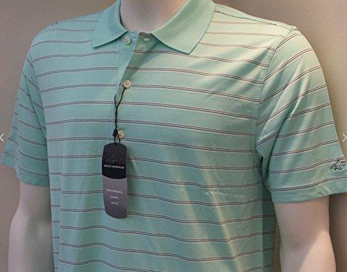 Greg Norman–Grün–Gr. Medium–Herren Play Dry Micro Pique Short Sleeve Polo (Polo Micro-piqué)