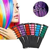 Espeedy 6 Piezas Películas desechables temporales de la tiza del pelo Pelo del color Combine los kits de Cosplay de los ventiladores del partido del salón