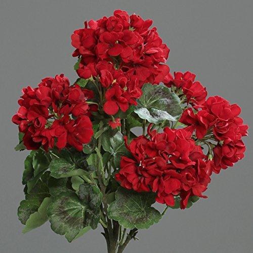 Geranie stehend rot 44 cm Kunstblumen von DPI