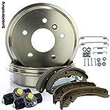 2 Bremstrommeln + Bremsbacken + 2 Radbremyzylinder + Montagesatz