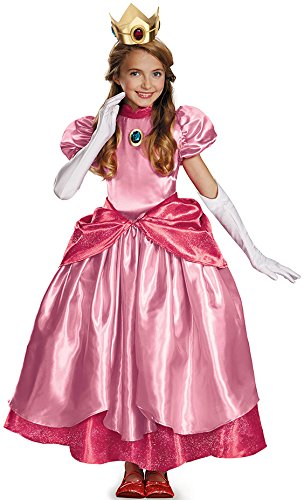 Disguise Prinzessin Peach Verkleidung Deluxe für Mädchen