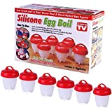 Swarish Silicone Egglettes Egg Cooker Hard Boiled Eggs Without The Shell for Egg Tools Pack of 6pcs