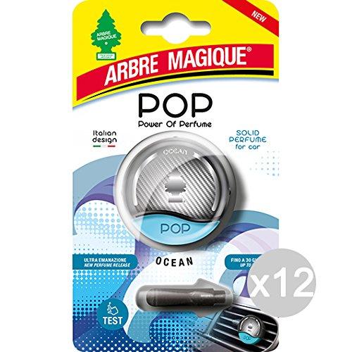 Set 12 ARBRE MAGIQUE Pop Ocean Deodorante Con Gancio Solido Profumatore Per Auto