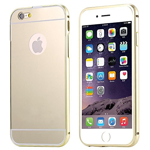 6S Plus Case, Feikai 3 in 1 Ultra Thin Slim Coated Premium Non Slip Matte Surface Electroplate Frame Plating Metal Texture Skin Hard Case Cover With Ring Holder Stand for iPhone 6 Plus / 6S Plus Gray 6S Plus Gold