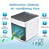 Personal Space Air Cooler, Portable Min Air Conditioner 3 in 1 Cooler Air Humidifier & Purifier with 3 Speeds, 6 Air Supply Mode and 7 Colors LED Light with Sleep Mode, 10 Working Hours