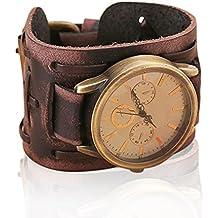 orologio con bracciale in pelle