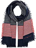 Tommy Hilfiger Damen Schal Wooly Stripes Scarf, Blau, One size (Manufacturer size: OS)