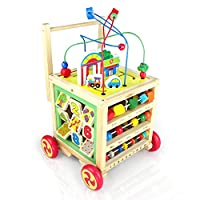 Nuheby Baby Walker Wooden Activity Toddler Toys Multifunction First Steps Educational Toys 1 Year Old Girl Boy Baby Gifts
